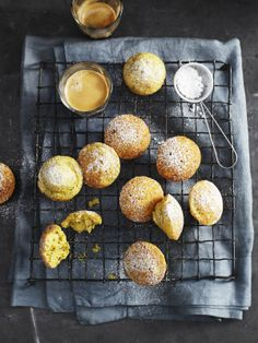 lemon + poppy seed cakes - Andy Lewis Photography - Stylist Jenn Tolhurst