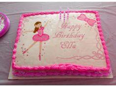 Ballerina Ballet Image Edible cake topper