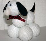 How to make a golf ball doggie!  http://familycrafts.about.com/od/giftsformen/a/GolfBallDog.htm