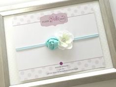 Aqua Baby Headband Newborn Photo Prop Girl Dainty por PlumPolkaDot