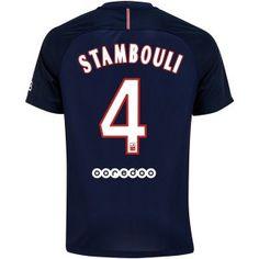 PSG 16-17 Cheap Home Soccer Shirt #4 STAMBOULI [E848]