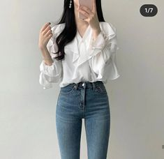 Korean Girl Fashion, Korean Fashion Trends, Korean Street Fashion, Kpop Fashion, Retro Fashion, Really Cute Outfits, Cute Casual Outfits, Simple Outfits, Stylish Outfits