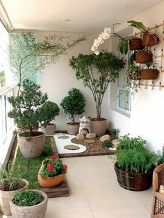 A small balcony garden that looks like a pocket garden. - A small balcony garden that looks like a pocket garden. Apartment Balko … Source by luannetepper - Small Japanese Garden, Japanese Garden Design, Japanese Gardens, Small Gardens, Outdoor Gardens, Zen Gardens, Roof Gardens, Design Jardin, Terrace Garden