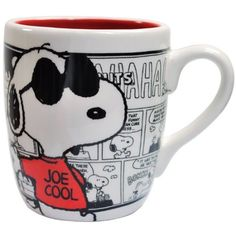Amazon.com: PEANUTS Joe Cool Comics 13-Ounce Mug