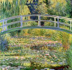 Claude Monet. The Japanese Bridge - The Water-Lily Pond (1899).