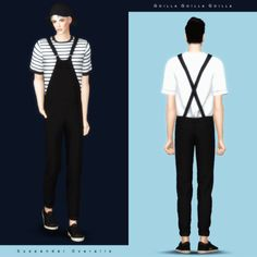 Suspender Overalls for The Sims 4
