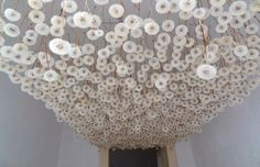 """Colossal"" - 2,000 Suspended Dandelions by Regine Ramseier"