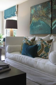 greige: interior design ideas and inspiration for the transitional home : Bits of Blue..
