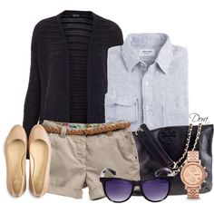 """""""Shorts e maniche lunghe"""" by doradabrowska on Polyvore"""