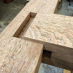 This live oak is pretty, but man is it unforgiving.  #ornery #joinery #woodworking #woodworker #oak