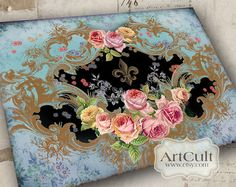 VICTORIANA No2  Large Printable Image Digital Collage by ArtCult, $4.99