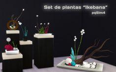 "Sims 4. Set de Plantas ""Ikebana"". http://pqsim4.blogspot.com.es/2015/06/sims-4-set-de-plantas-ikebana.html"