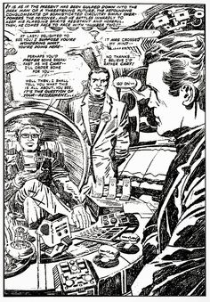 "A page from the unpublished The Prisoner, by Jack ""King"" Kirby. The comic is out there. http://beachbumcomics.blogspot.com/"