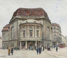 Ernst Graner Wiener Stadttheater - The Largest Art reproductions Center In Our website. Low Wholesale Prices Great Pricing Quality Hand paintings for saleErnst Graner Vienna Austria, Large Art, Art Reproductions, Art For Sale, Old Things, Louvre, Street View, Architecture, Wikimedia Commons