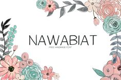 Nawabiat is a regular handmade font with loads of personality & charm. It works great for quotes, logos, posters, headlines, t-shirts and more. Nawabiat is available in both TTF and OTF formats.http://symufa.com/downloads/nawabiat-free-font/