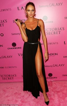 Candice Swanepoel doing the Angelina Jolie