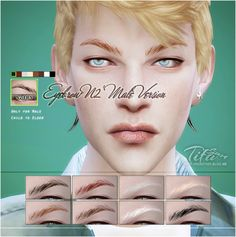 Sims 4 CC's - The Best: Eyebrows for Males by Tifa