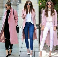 Pink is the new black Mom Outfits, Classy Outfits, Chic Outfits, Fashion Outfits, Womens Fashion, Fall Winter Outfits, Winter Fashion, Traje Casual, Look Blazer