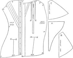 Stay-making pattern and instructions. Very detailed.