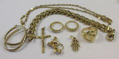 STERLING SILVER GOLD VERMEIL MIXED JEWELRY 43.5 GRAM LOT- ALL MARKED & USABLE