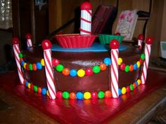 Nathan's Carnival Boat Ride Cake