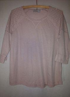 Kup mój przedmiot na #vintedpl http://www.vinted.pl/damska-odziez/bluzki-z-dlugimi-rekawami/12304779-pudrowa-koszulka-z-cekinami