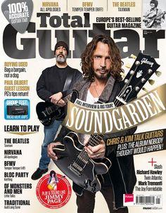 #soundgarden Chris and Kim on Total Guitar magazine cover