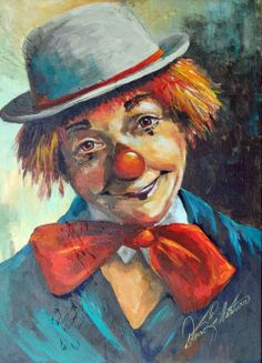 clown & pierrots Clown Photos, Clown Paintings, Scary Clown Mask, Send In The Clowns, Clown Faces, Circus Clown, Acrylic Painting Lessons, Amazing Paintings, Human Art