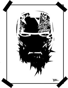 THUG LIFE - IRON on Behance  #ironman #geekart #tattoo #graffiti