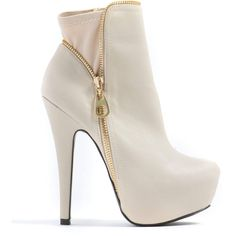 Zipped Into Shape Platform Booties ($38) ❤ liked on Polyvore featuring shoes, boots, ankle booties, heels, ankle boots, booties, heeled booties, platform ankle boots, zipper ankle boots and platform heel bootie