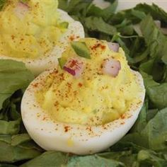 Deviled Eggs - Mexican Devils! Allrecipes.com