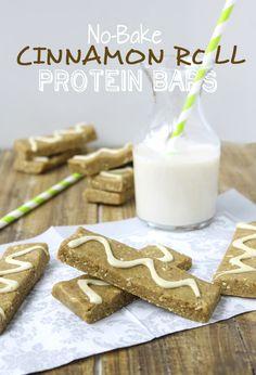 no-bake cinnamon roll protein bars