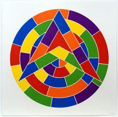 Tondo 1 (3 point star) | Sol LeWitt, Tondo 1 (3 point star) (2002)