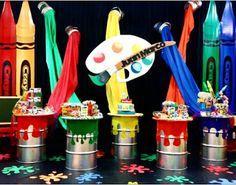 Ideas, decoración y manualidades para fiestas: Fiesta temática art party