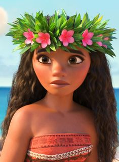 """Teen actress Auli'i Cravalho helps bring to life Walt Disney Animation Studios' newest heroine in """"Moana."""" The Native Hawaiian is the voice of the d Moana Disney, Princess Disney, Disney Magic, Disney Art, Disney Movies, Disney Characters, Punk Disney, Images Disney, Disney Pictures"""