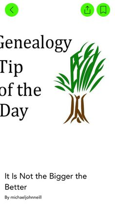 Genealogy Tip of the Day Genealogy Research, Tip Of The Day, Family History, Good To Know, Itunes, Connection, App, Apps, Genealogy