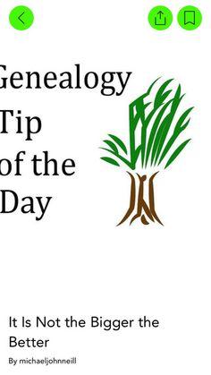 Genealogy Tip of the Day #genealogy