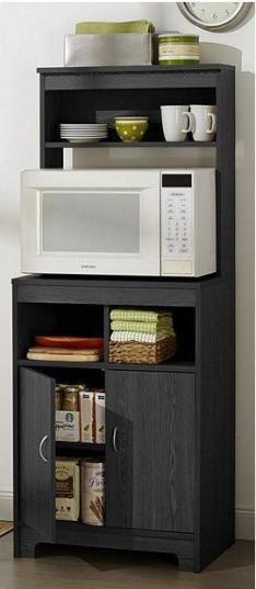 microwave stand kitchen shelves