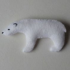 DIY Felt Polar Bear - FREE Pattern and Tutorial