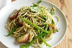 Italian Dishes, Italian Recipes, Italian Cooking, Parsley Pesto, Zucchini Pesto, Mario Batali, Italian Salad, Mediterranean Dishes, Al Dente