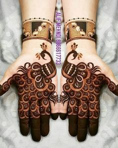 Check beautiful & easy mehndi designs 2020 ideas for mehandi ceremony. Save these latest bridal mehandi designs photos to try on your hands in this wedding season. Peacock Mehndi Designs, Mehndi Designs For Kids, Mehndi Designs Feet, Mehndi Designs Book, Latest Bridal Mehndi Designs, Full Hand Mehndi Designs, Mehndi Designs 2018, Mehndi Design Photos, Mehndi Designs For Fingers