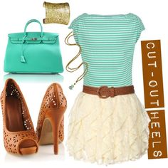 Love the colors and the lace & stripes