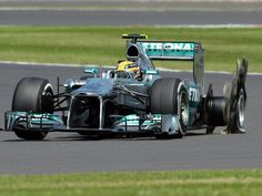 Lewis Hamilton: Was the first of many to suffer at tyre failure - 2013 British GP