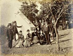 In this photo taken by William Tipton, 19th Massachusetts veterans and family members are shown at the dedication of a monument to the regiment at Gettysburg on Oct. 1, 1891. The monument is along Hancock Avenue, near the Copse of Trees. The 19th Massachusetts suffered 77 casualties at Gettysburg, including nine killed.