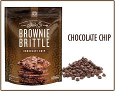 Brownie Brittle, LLC - Rich brownie taste with a crisp cookie crunch. Try 4 flavors - chocolate, toffee, mint chocolate chip and salted caramel by Sheila G for BrownieBrittle.com.