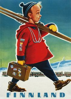 Travel Poster Finland 1957