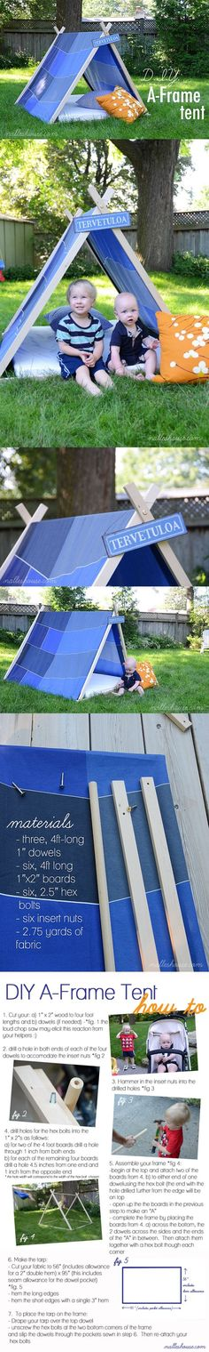 Love this diy ! Tent for kids Tp Tent, A Frame Tent, Activities To Do, Diy Projects To Try, Easy Peasy, Childcare, Fun Games, Early Childhood, Arts And Crafts