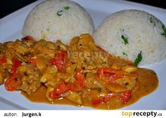 Africké kuře recept - TopRecepty.cz Czech Recipes, Ethnic Recipes, Cooking Recipes, Healthy Recipes, Eating Well, Poultry, Chicken Recipes, Curry, Food And Drink