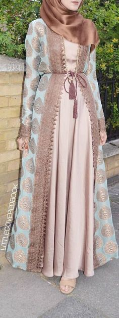 New Dress Brokat Syari Ideas Islamic Fashion, Muslim Fashion, Modest Fashion, Fashion Dresses, Mode Abaya, Mode Hijab, Modest Dresses, Modest Outfits, Estilo Abaya
