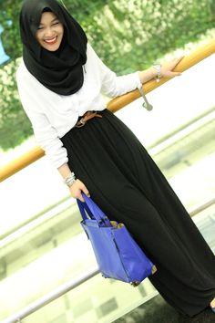 In My Shawls: Long Black Dress